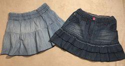 Джинсовые юбки с воланом С&A  H&M
