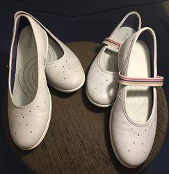 Кожаные балетки туфли ECCO 39,40р.