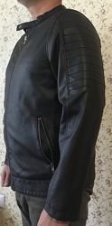 Мужская куртка бомбер IDENTIC из экокожи
