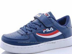 кожаные кеды  кроссовки Fila