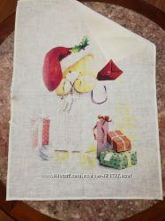 Акция Новогодние полотенца из льна