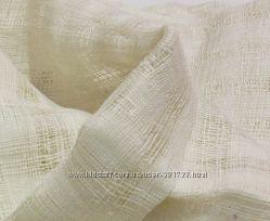 Льняная декоративная ткань сетка