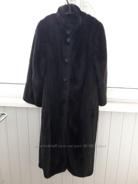 Чёрная норковая шуба размер М