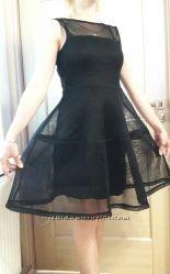 Платье сетка черное очень стильное