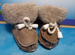 Пинетки теплые. Обувь для новорожденных. Скидка
