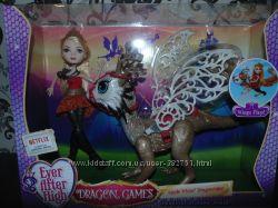 Кукла эвер афтер хай Эппл Вайт набор с драконом. Оригинал