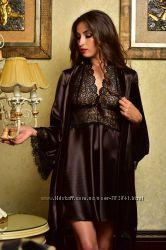 Разные цвета, размеры от XS до XXL. Атласный комплект, халат и рубашка