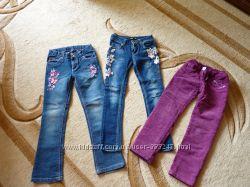 Фирменные Roberto Cavalli джинсы на девочку 122-128 рост