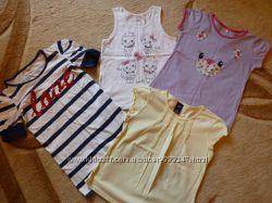 Фирменные футболки на девочку 5 лет Next, GAP, LC Waikiki, Ostin