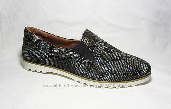 37 размер Распродажа Туфли женские на резинке рептилия