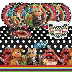 Н-р одноразовой посуды для детского праздника в стиле The Muppets