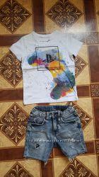 джинсовые шорты Zara 110см