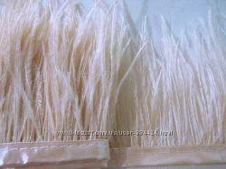Тесьма страусиная  лента перья страуса- светлый персик