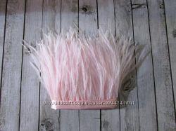 Тесьма страусиная  лента перо страуса нежно розовый цвет декор одежды