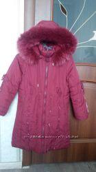 Зимняя куртка-пальто Kiko на девочку, рост 128см, 134см