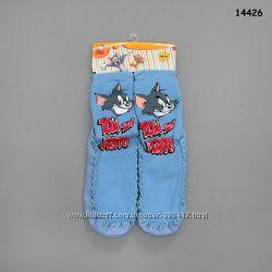 Теплые и удобные носочки-тапочки для мальчиков и девочек, кожаная стелька