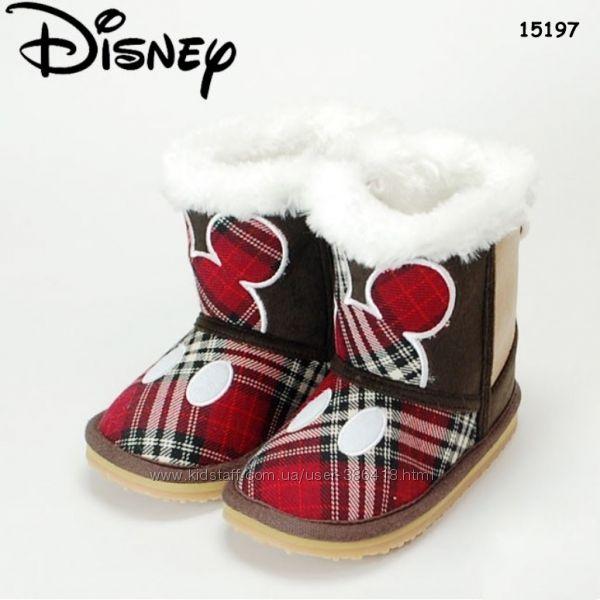 Теплые угги Mickey Mouse от Disney для мальчиков и девочек, три модели