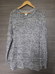 Меланжевый свитер оверсайз h&m