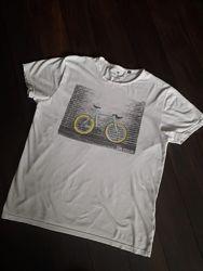 Белая футболка велосипед Tom Tailor