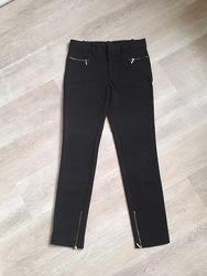 Укороченные брюки Zara с золотистыми замочками