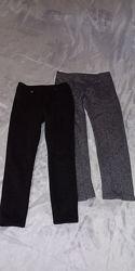 теплые штанишки для девочки 6 лет Zara H&M