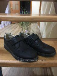 Кожаные туфли броги для мальчика 35 размер Турция