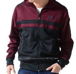 Кофта  Adidas  черно-бордовая  оригинал