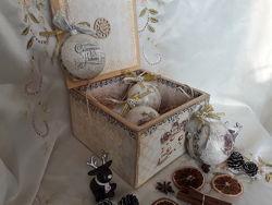 Набор новогодних ёлочных шаров Мышата