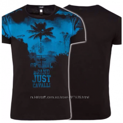 Мужская футболка Just Cavalli , l 50-52 оригинал с голограмами