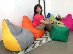 Кресло мешок для детей, груша пуф 90х60 см,  ткань Оксфорд