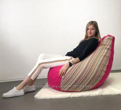 Кресло пуф, груша, 130х90 см, мебельная ткань с поролоном