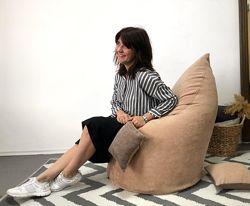 Кресло пуф, капля, мебельная ткань с поролоном