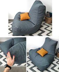 Большое бескаркасное кресло, суперткань