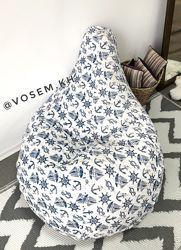 В наличии Кресло мешок груша, 130х90 см, мягкая детская ткань с принтом