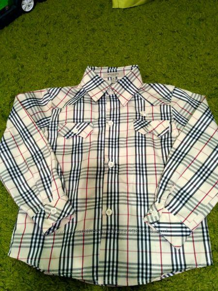 Стильная рубашка Burberry на 5-6 лет