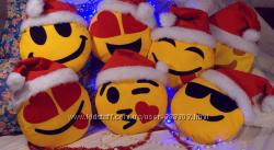 Подушка Новогодняя-смайлик