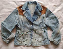 Пиджак джинсовый для девочки 9-12 лет