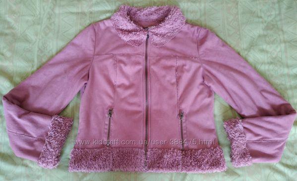 Короткая курточка-дубленка, размер 40