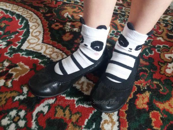 Туфли балетки девочке. Кожа