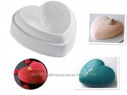 Силиконовая 3D форма для торта сердце