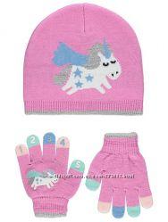 Комплект шапка и перчатки George Англия