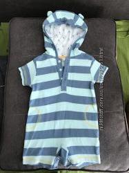 Ромпер комбинезон с капюшоном M&Co в идеальном состоянии 9-12 месяцев