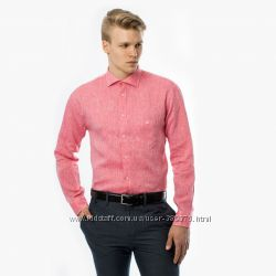 Стильная рубашка из льна и хлопка премиум класса TU XXL новая