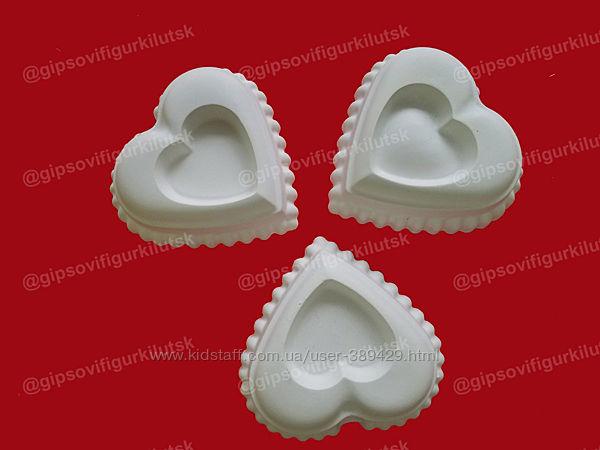 2D Сердце гипсовые фигурки. Гіпсові фігурки серце