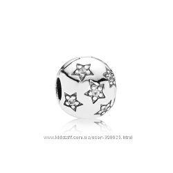 Серебряная клипса Pandora Звездная ночь