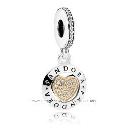 Подвеска Сердце с логотипом Pandora