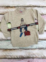 Тёплый стильный свитер на 110, 116, 134, 140 см