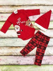 Новогодний тёпленький костюм для малышей на рост 62, 68, 74, 80 см