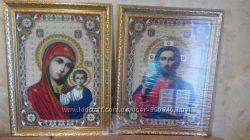 Икона СПАСИТЕЛЬ И КАЗАНСКАЯ БОГОРОДИЦА