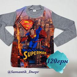 Реглан для мальчика Superman на 4-8 лет